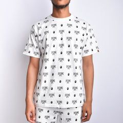 Bape All Logo Tee l white/black
