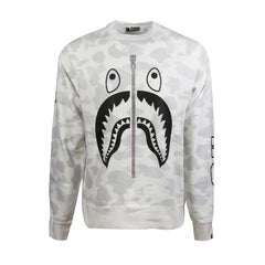 Bape Shark Crewneck l white camo/black/glow