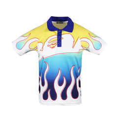 Bape Flame Polo l blue