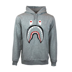 Bape Shark Hoodie l grey/Leather