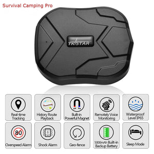 GPS Tracker Locator Waterproof  Real Time LBS Position for Hiking Camping Trekking - Survival Camping Pro