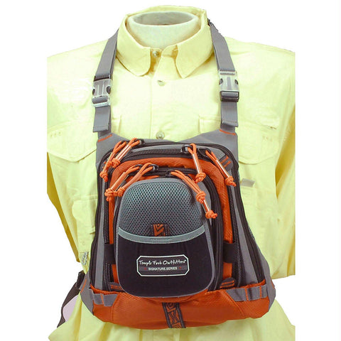"TFO Med Size Chest Pack w- Front Drop Pocket 13"" x 1"" 1"" - Survival Camping Pro"