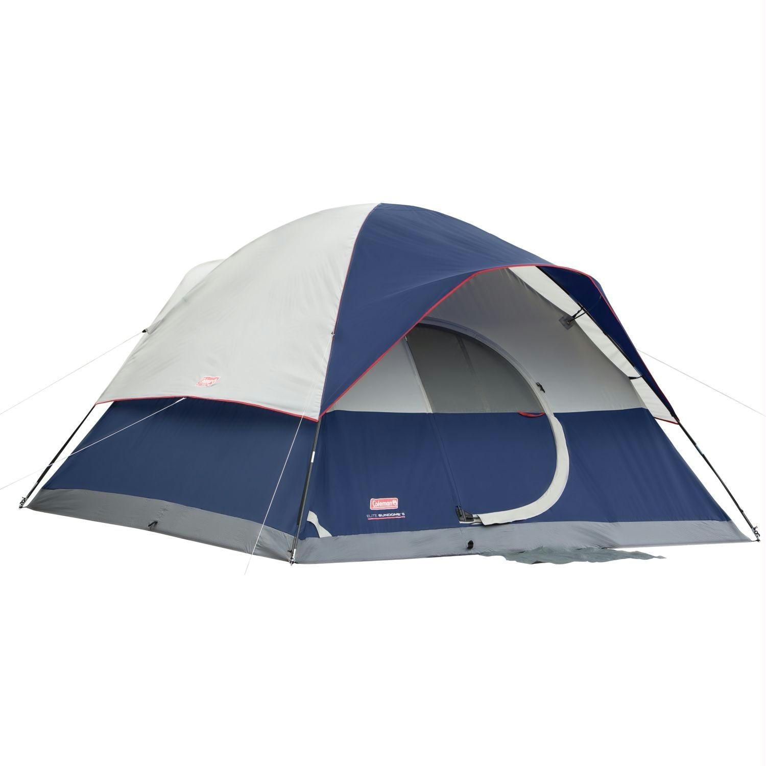 Coleman Tent 12X10 Elite Sundome 6 Person with LED Lighting - Survival Camping Pro