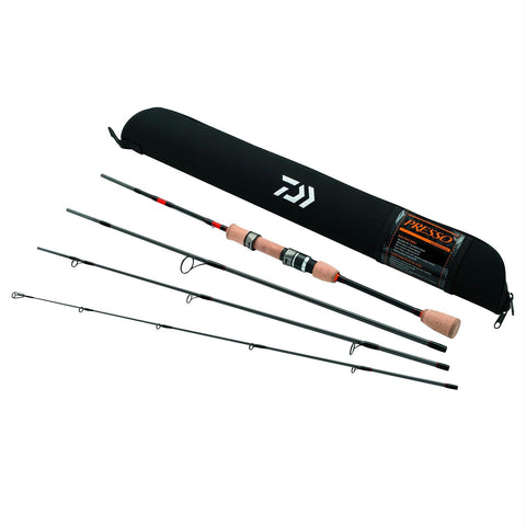 Daiwa Presso Ultralight Pack Spinning Rod 4-Piece 6ft6in - Survival Camping Pro