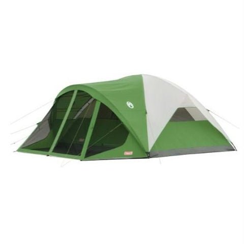 Coleman Evanston 8 Tent 12x12 Foot Green-Tan-Grey 2000027942 - Survival Camping Pro