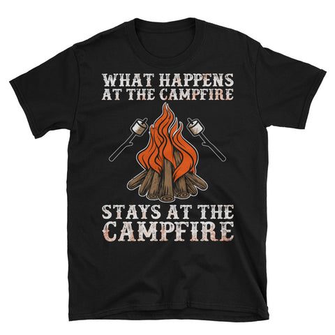 What Happens At The Campfire Funny T-Shirt - Survival Camping Pro