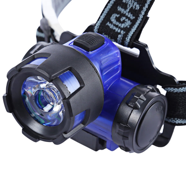 Water Resistant 80 Lumens Head Light Flashlight LED Headlamp Lantern - Survival Camping Pro