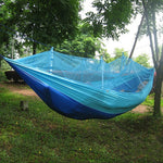 Single Person Portable Hammock With Mosquito Net Hanging Bed Camping and Hiking - Survival Camping Pro