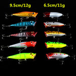 Mixed Fishing Lures 10 Piece Set Hard Bait  Crankbait Carp Fishing Tackle Top Water - Survival Camping Pro