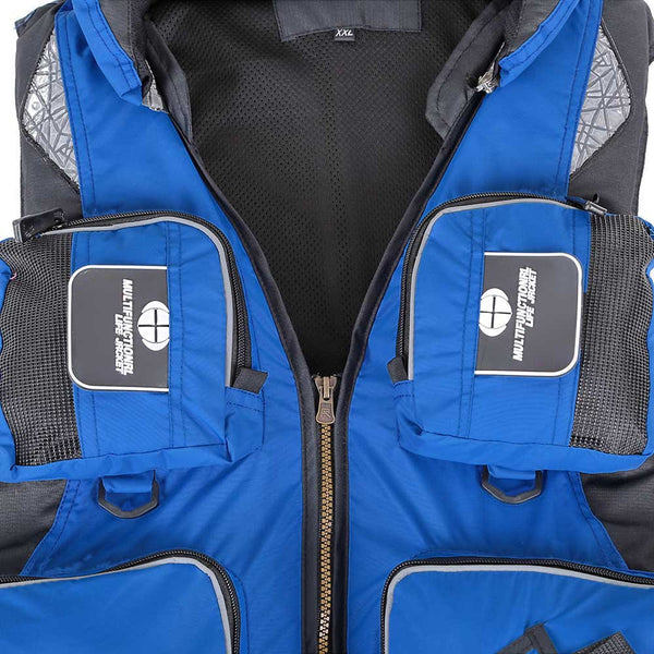 Outdoor Unisex Adult Life Jacket Fishing Safety Vest For Water Sports Survival Swimwear - Survival Camping Pro