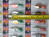 30 Metal Fishing Lures - Spinner / Spoons With Feather - Survival Camping Pro