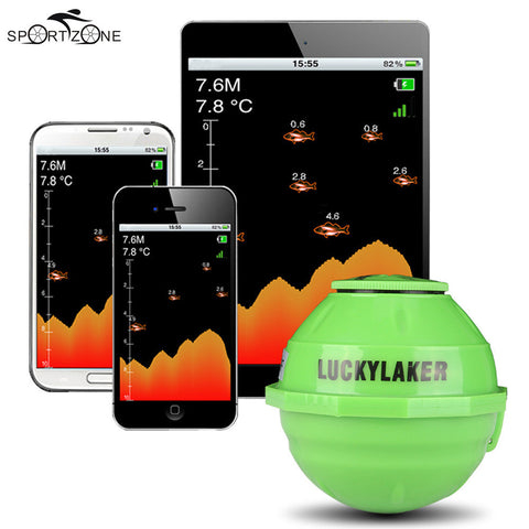 Lucky Wireless WiFi Sonar Fish Finder Detector For IOS Android + Car Charger - Survival Camping Pro