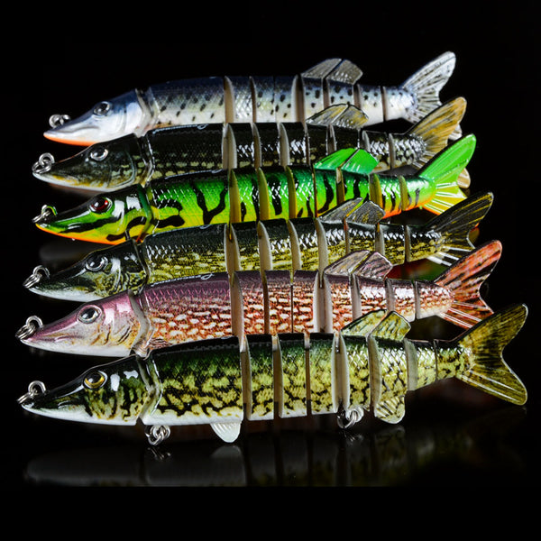Fishing Lures Multi Jointed Set Nine Segment Swimbait Hardbait Tackle - Survival Camping Pro
