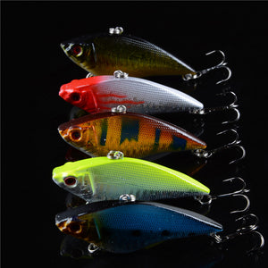 Hard Vibe Bait Fishing Lures 5 Pieces Sinking Deep Wobblers With 3D Eyes - Survival Camping Pro