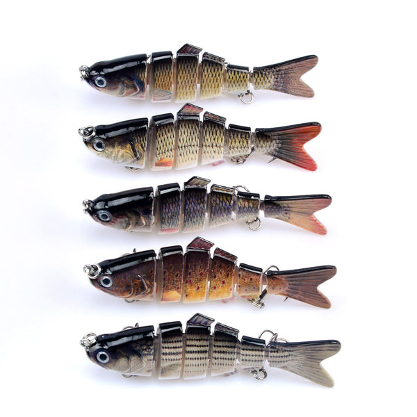 Fishing Lures Set Six Segment Swimbait Wobblers Artificial Hard Bait Carp Tackle - Survival Camping Pro