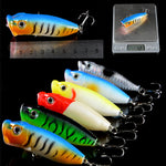 Fishing Lures Set Mixed 4 Different Styles 25 Pieces Bait Minnow/VIB/Popper Lure Fish Lead Tackle - Survival Camping Pro