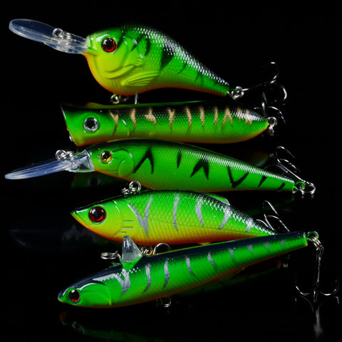 Fishing Lures Mixed Minnow/Crank/Popper/Pencil/VIB Bait Artificial Crankbait Fishing Tackle - Survival Camping Pro