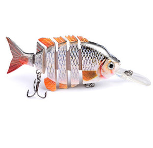Fishing Lure 6 Segments Swimbait Crankbait Hard Bait Fresh Shallow Water  Wobbler Treble - Survival Camping Pro