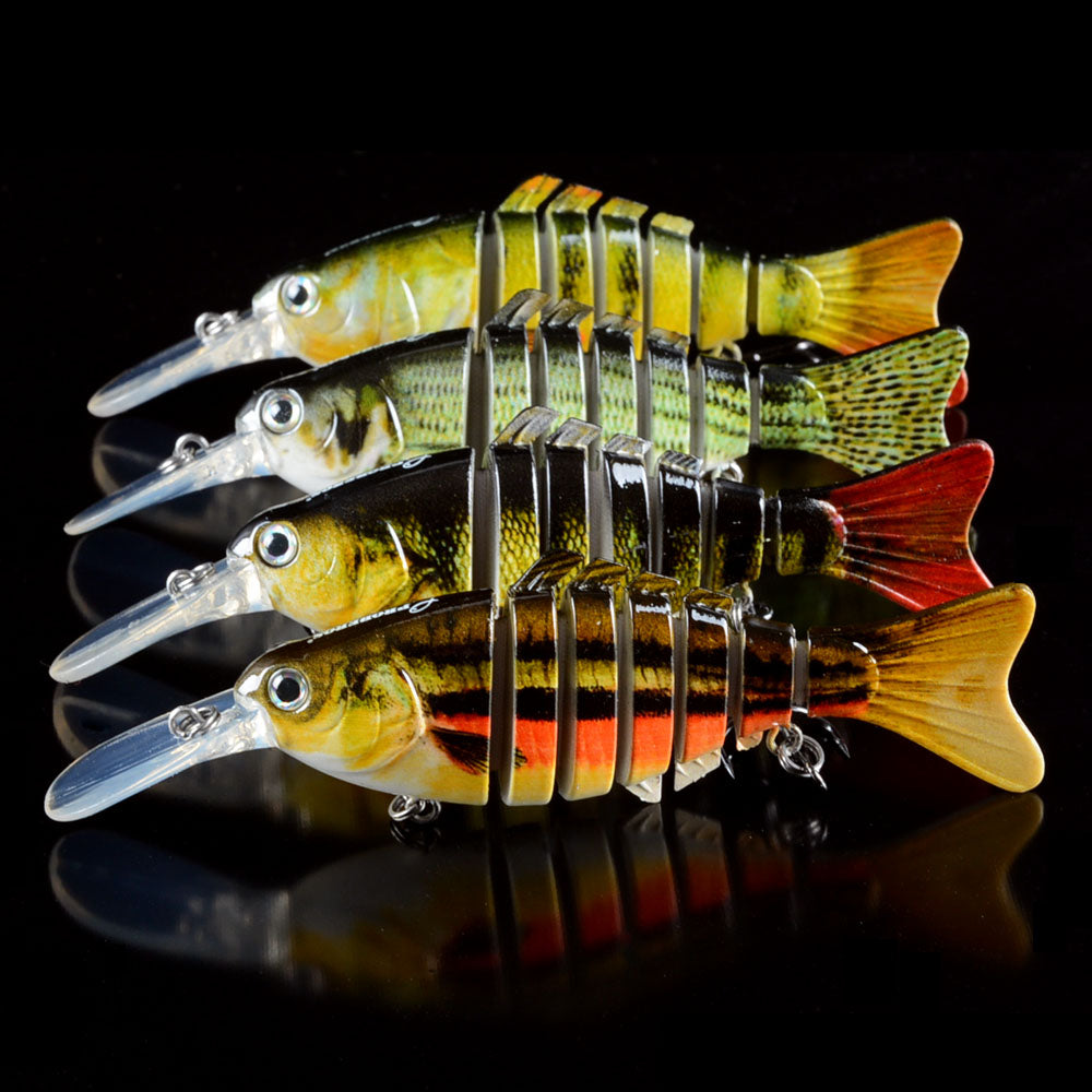 Fishing Lures 7 Segment Swimbait Crankbait Hard Bait Artificial Fishing Tackle - Survival Camping Pro