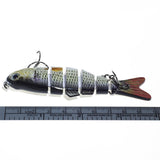 Fishing Lure Six Segment Swimbait Wobbler Artificial Hard Bait Jig Carp Fishing Tackle - Survival Camping Pro