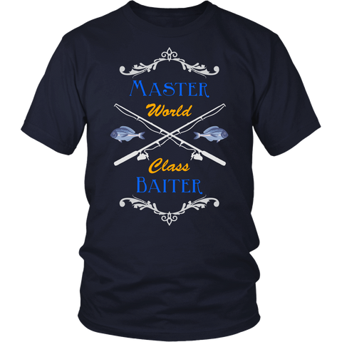 Funny Master Baiter Humor Fishing Angler T-shirt Tee - Survival Camping Pro