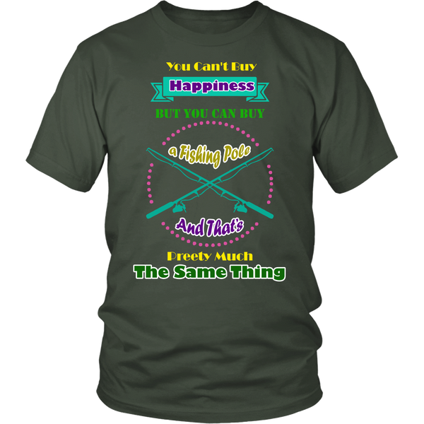 Funny You Can't Buy Happiness Angler Fisherman T-shirt - Survival Camping Pro