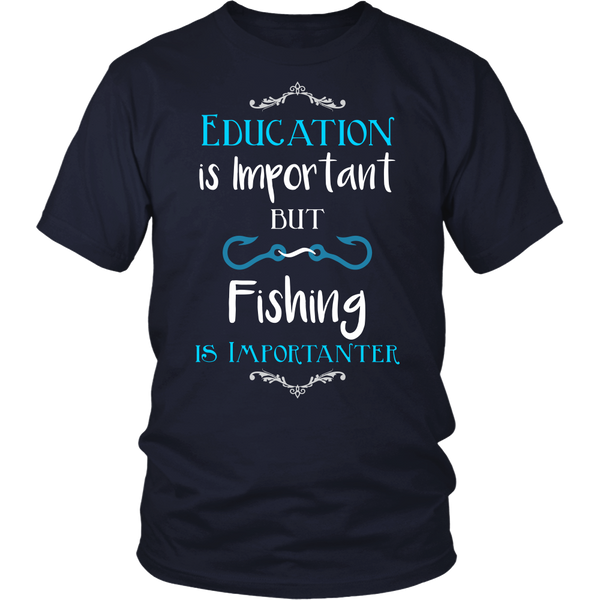 Funny Fishing Is Important Fisherman Angler T-shirt Tee - Survival Camping Pro