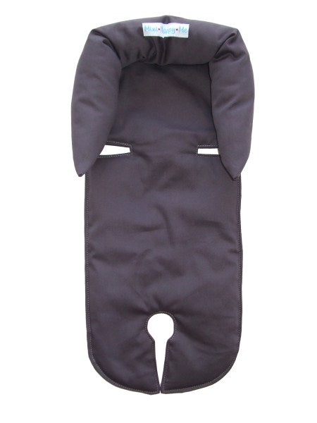 Custom Order Charcoal grey infant newborn to 4 months head support - head hugger