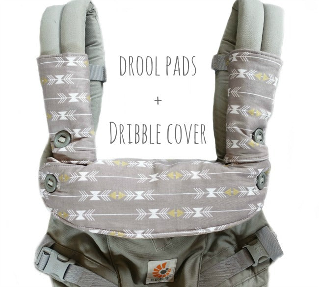Custom Order teething drool pads + dribble bib cover for Ergo Adapt