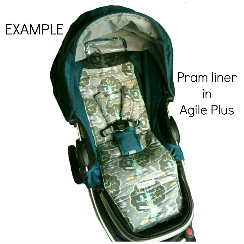Custom Order Reversible pram liner - Steelcraft Agile Plus