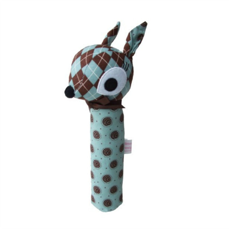 Alimrose Designs cute blue fawn hand squeaker for baby