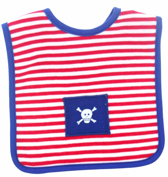 Alimrose pirate red stripe bib