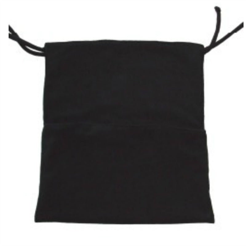 Black pram blanket with foot-pouch and non slip ties - custom made