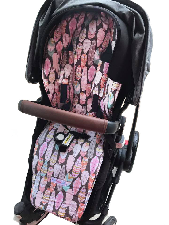 CUSTOM ORDER Reversible pram liner and strap covers - Bugaboo Buffalo