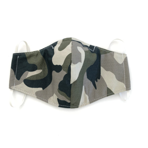 Reusable washable fabric face mask - Camo