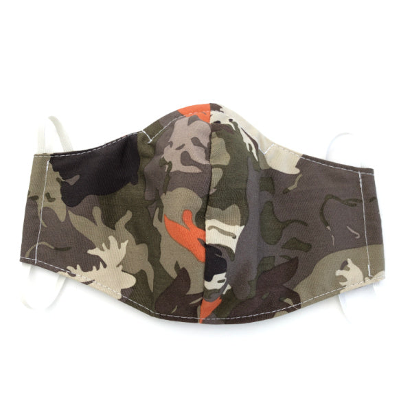 Reusable washable fabric face mask - Wilderness Camo