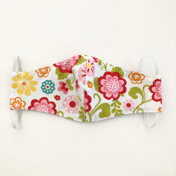 "Reusable washable fabric face mask ""Pretty Floral"""
