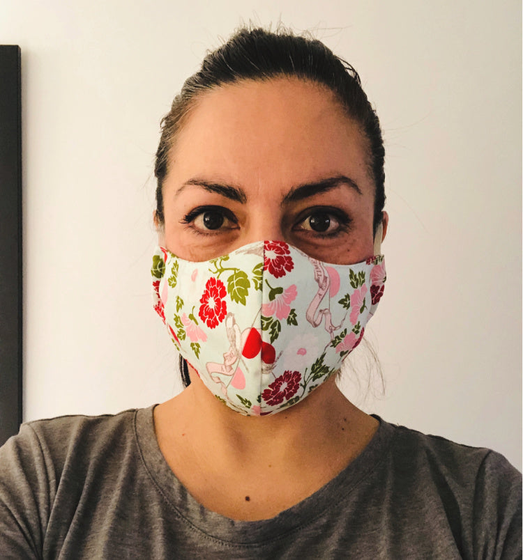 Custom order face mask with nose wire in pretty designer fabrics- help stop the spread