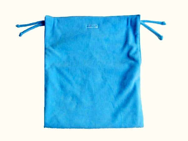 Aqua blue reversible soft pram blanket with ties non slip