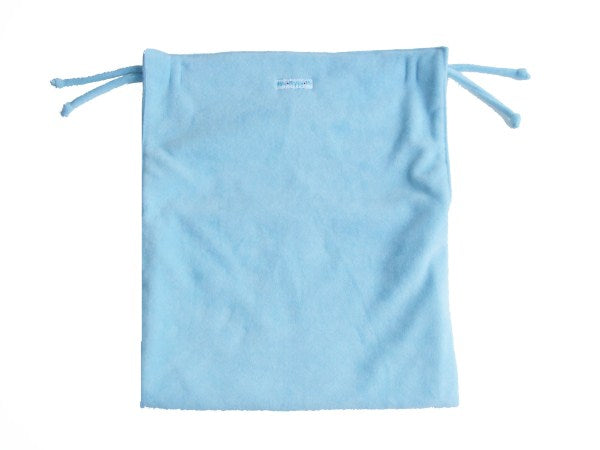 Light blue pram blanket non-slip with foot pouch