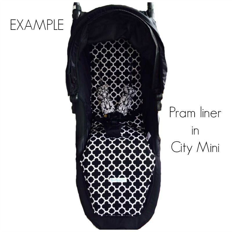 CUSTOM ORDER Reversible pram liner - Baby Jogger City Mini