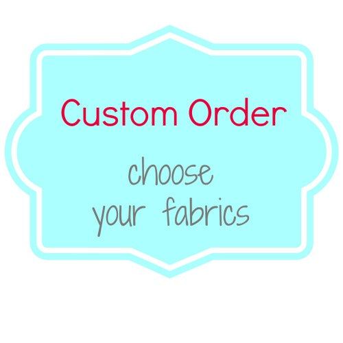 Custom Order NEWBORN harness strap covers / shoulder pads