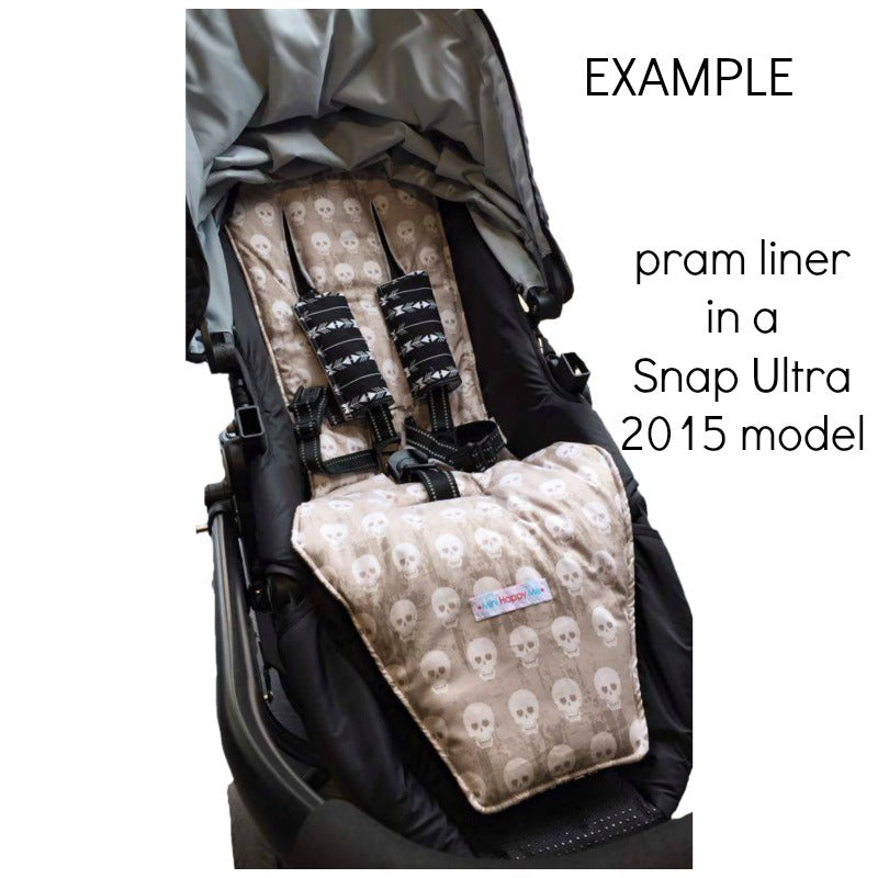 Custom Order Reversible pram liner - Valco Snap Ultra 2014 and 2015