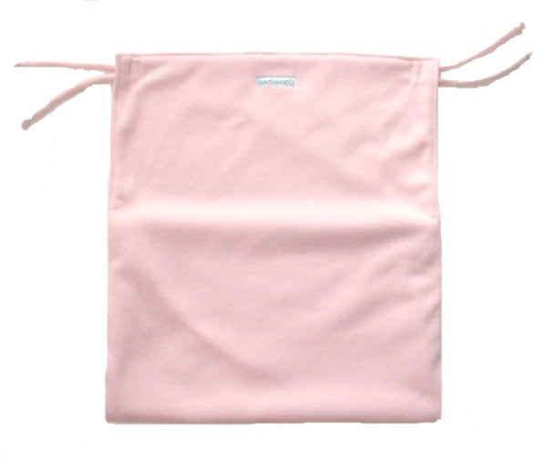 Pale pink pram blanket anti-slip with foot pouch