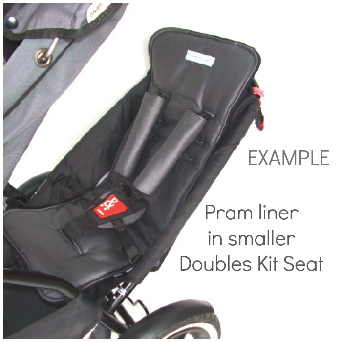 Custom Order Reversible pram liner - phil & teds Doubles kit seat