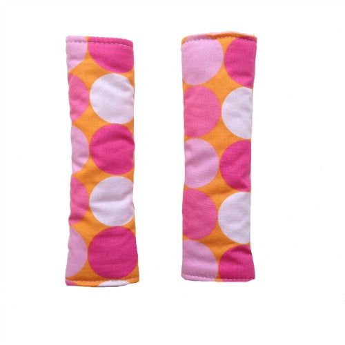 Pink Balloon Reversible spot harness strap covers / shoulder pads