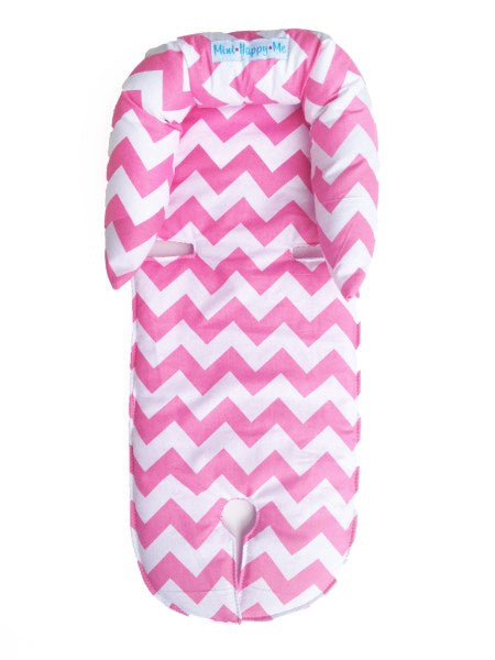 Custom Order Pink chevron infant newborn to 4 months head support - head hugger Mini Happy Me Australia
