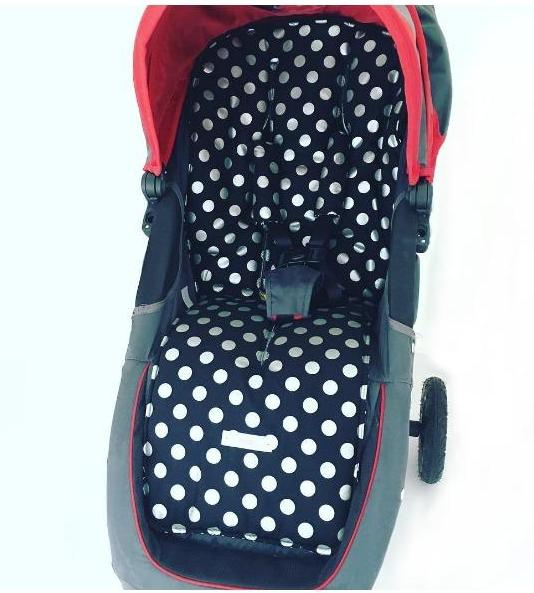 CUSTOM ORDER Reversible non slip pram liner - Universal Rounded sides-3 sizes
