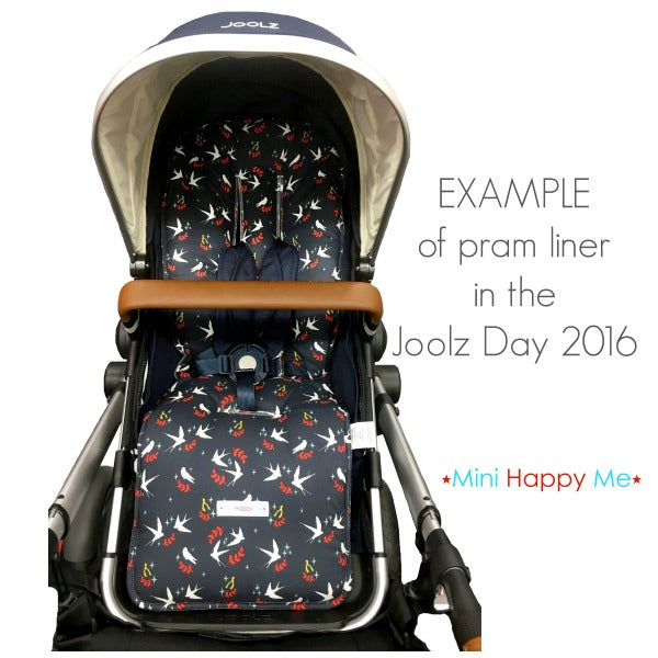 CUSTOM ORDER Reversible pram liner - Joolz Day 2016