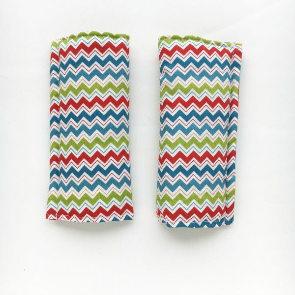 Chevron / stripes Reversible harness strap covers / shoulder pads. Mini Happy Me